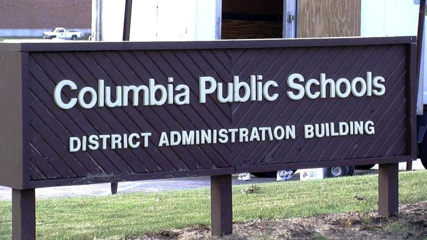 CPS district administration building sign.