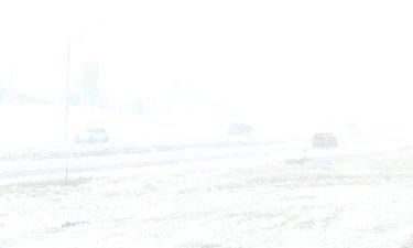 Snow covers Columbia roads