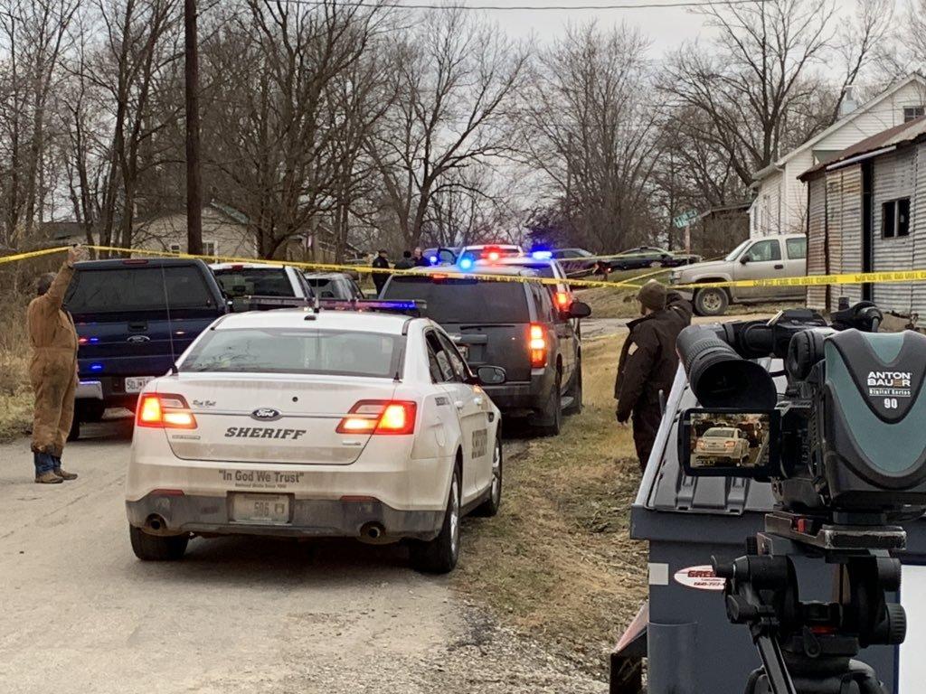 Law enforcement scene in Fayette