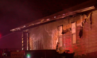Building damaged by fire in Cole County on Saturday
