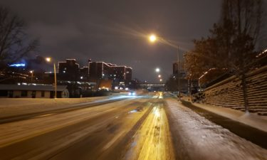 East Broadway snow