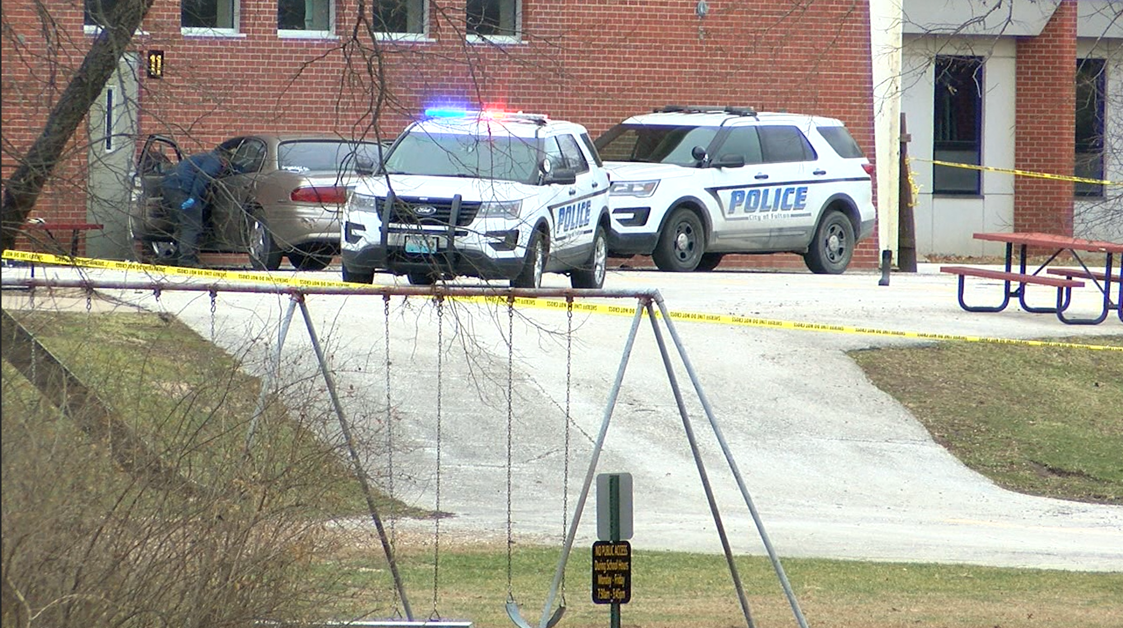 Fulton police investigate the scene of an officer-involved shooting