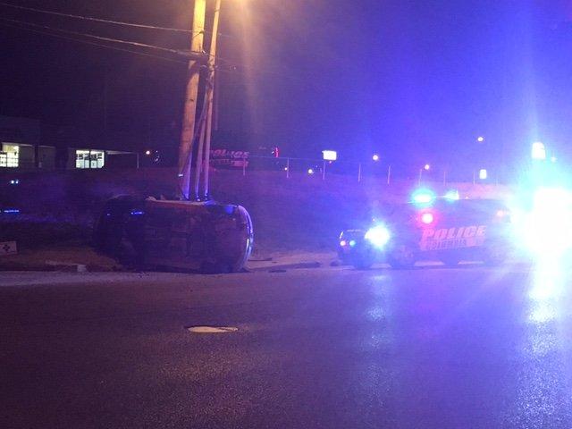 Crash shuts down Providence Road