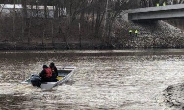 Searchers in boat