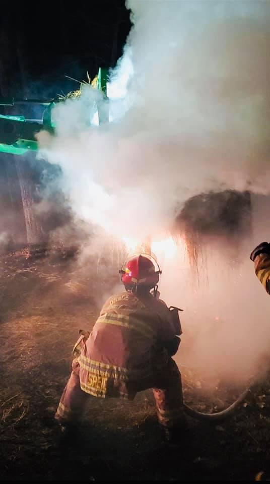 Osage County hay bale fire