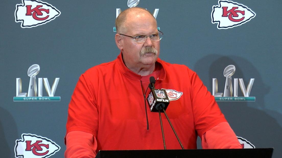 Kansas City Chiefs head coach Any Reid
