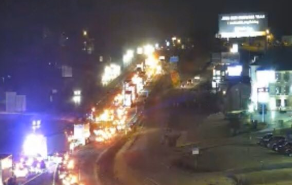 Photo of a MODOT traffic came feed of traffic near the connector in Columbia around 8 p.m.