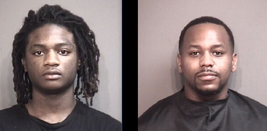 Julian Shumpert (left) and Derail Thomas are charged in connection with a home invasion on Monday, Jan. 13, 2020.