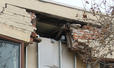 A section of the crumbling building on 200 E. High St. in Jefferson City