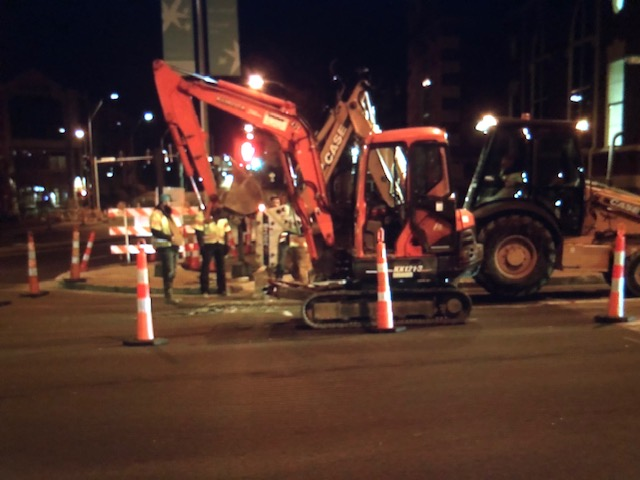 Section of E. Broadway closed for water main repair