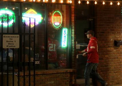 Chiefs fan at bar