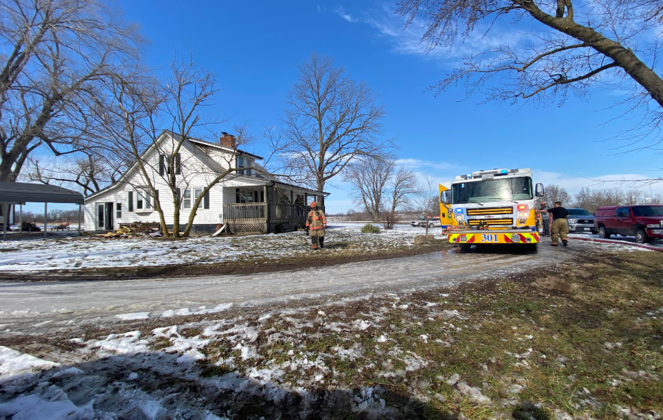 Firefighters respond to house fire on Frink Rd. Courtesy: BCFPD