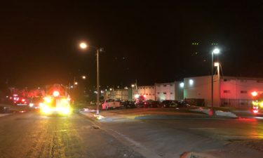 Crews respond to a fire at an apartment in Columbia.