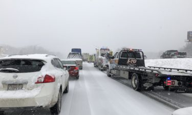 Traffic stalled on Interstate 70
