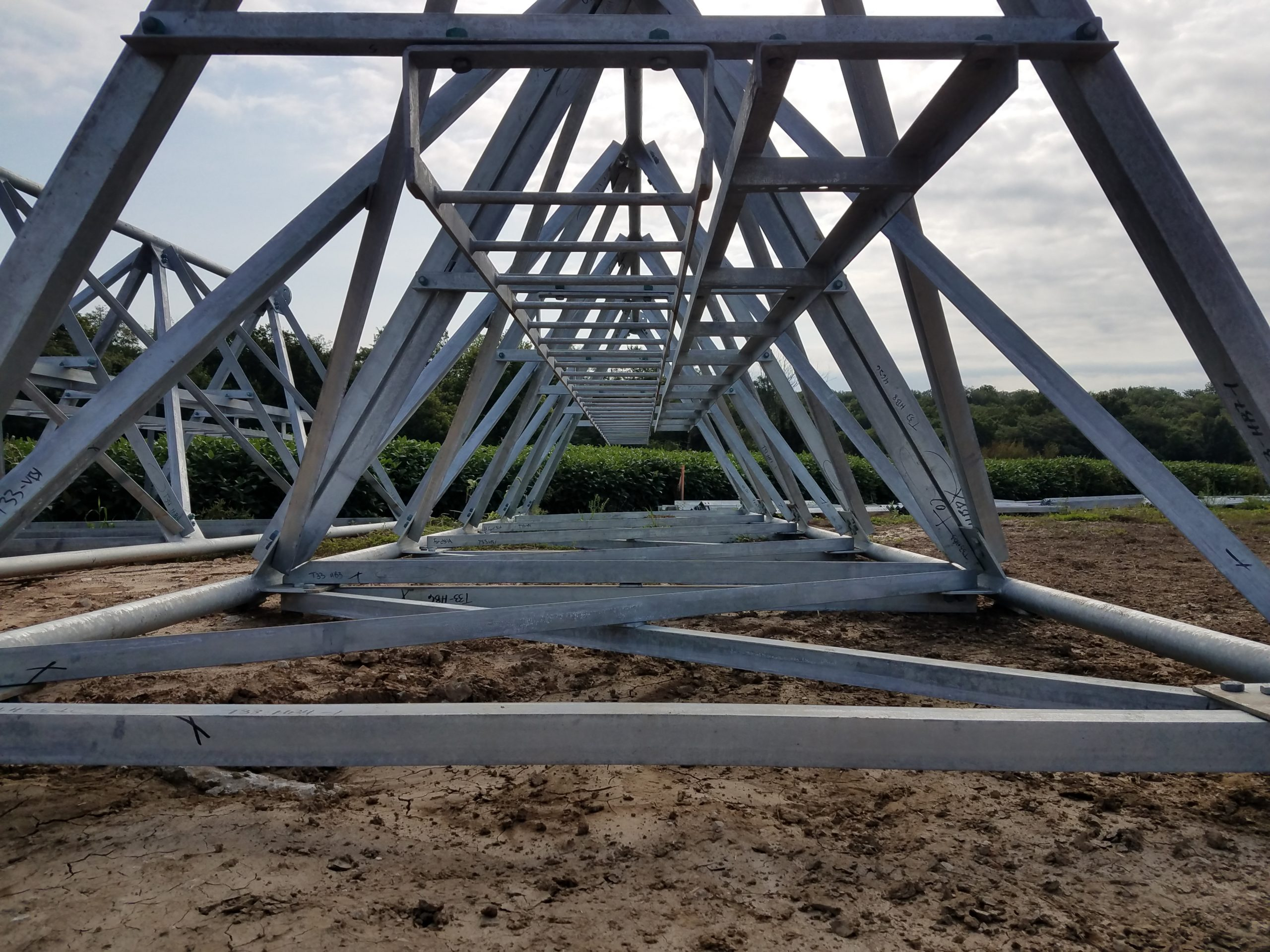 Broadcast tower installation