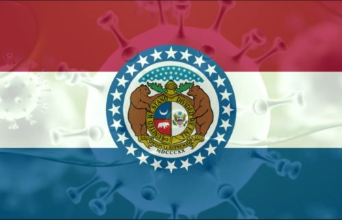 Corona COVID novel missouri flag