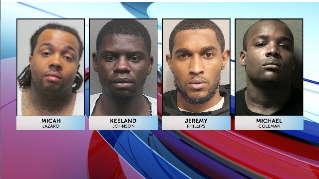 Micah Lazaro, Keeland Johnson, Jeremy Phillips, and Michael Coleman all charged in Best Buy burglary