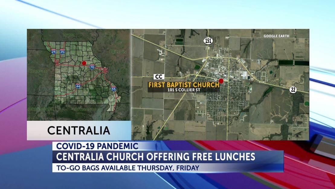 Centralia church provides meals while school is out