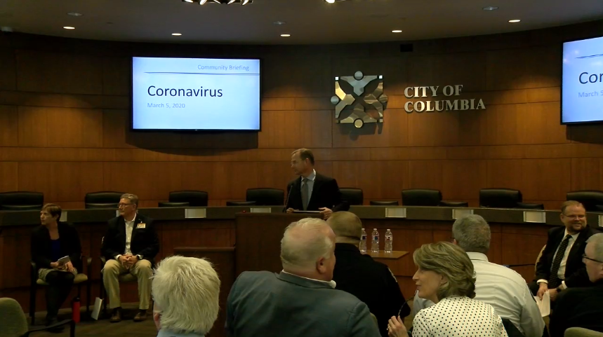 city hall meeting on coronavirus