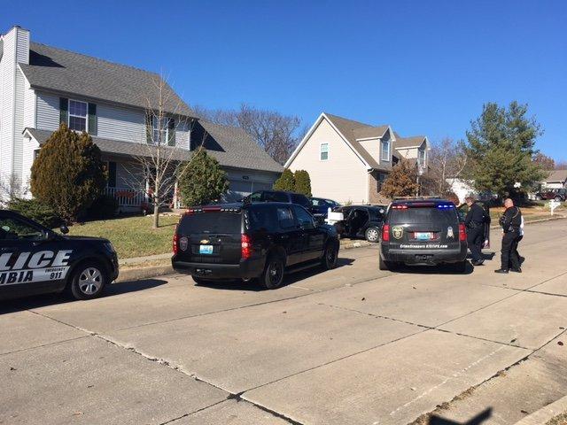 Police examine car