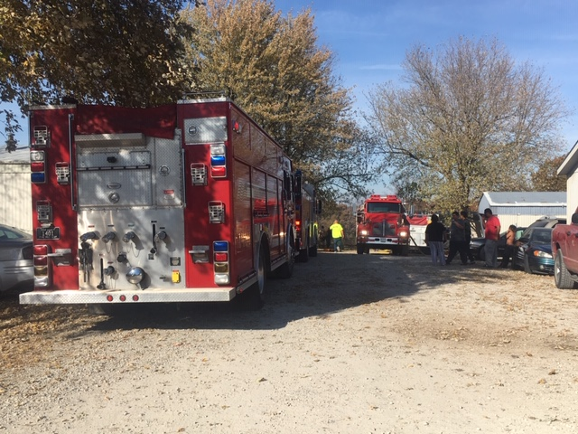 Cole County fire crews on Elnor Lane during an investigation on Saturday afternoon.