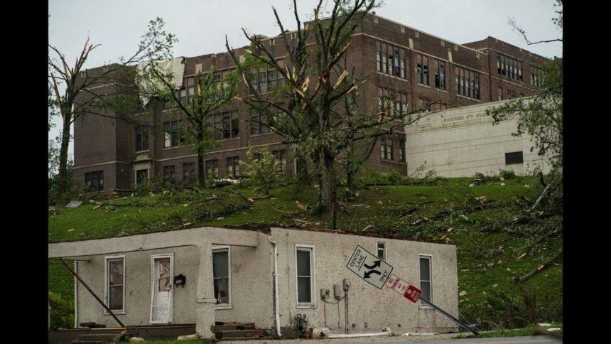 Simsonsen Ninth Grade Center tornado damage