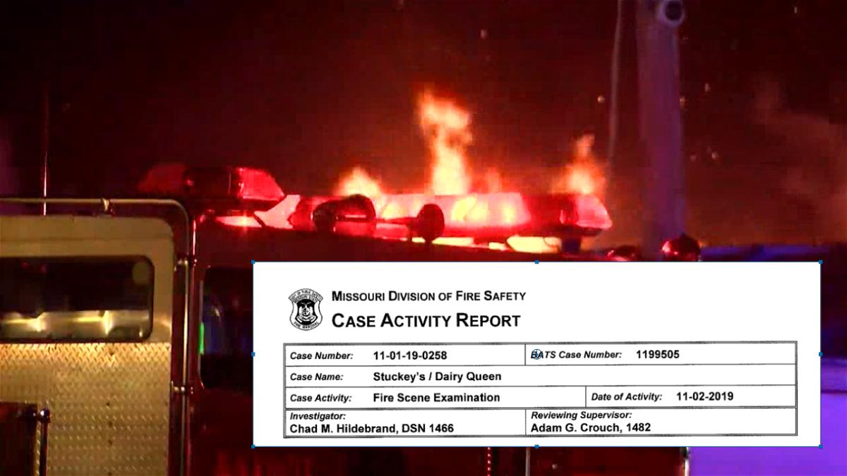 stuckey's fire report
