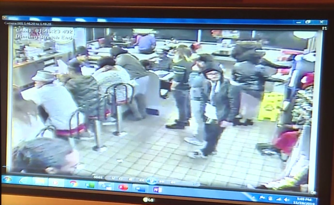 A screen capture of surveillance video showing a fatal Jan. 1, 2018, shooting in a Columbia Waffle House.