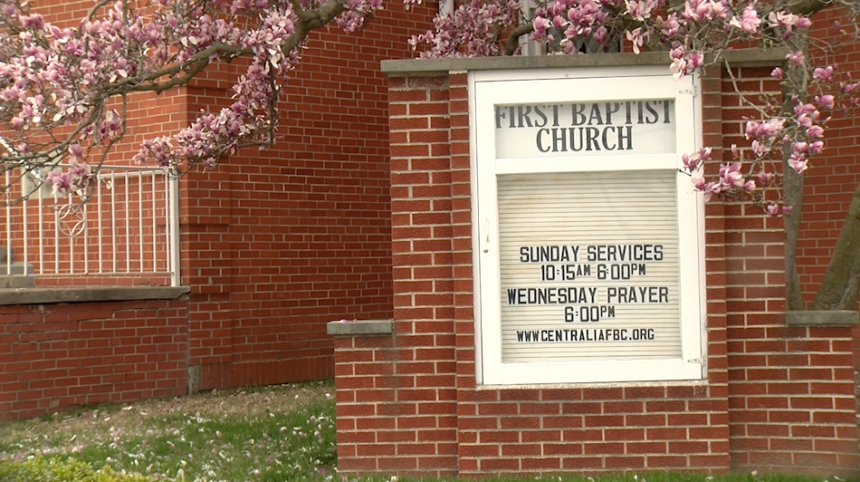 First Baptist Church of Centralia offers Sunday services despite 'Stay Home Missouri' order.