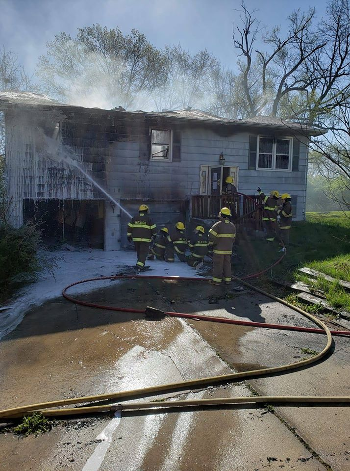 Home damaged in Mexico, Missouri fire