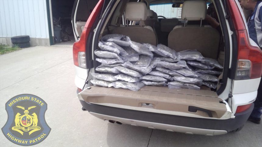 Marijuana seized by highway patrol during traffic stop