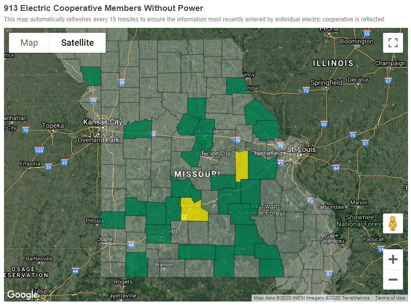 Hundreds In Mid Missouri Without Power After Early Morning Storms Abc17news