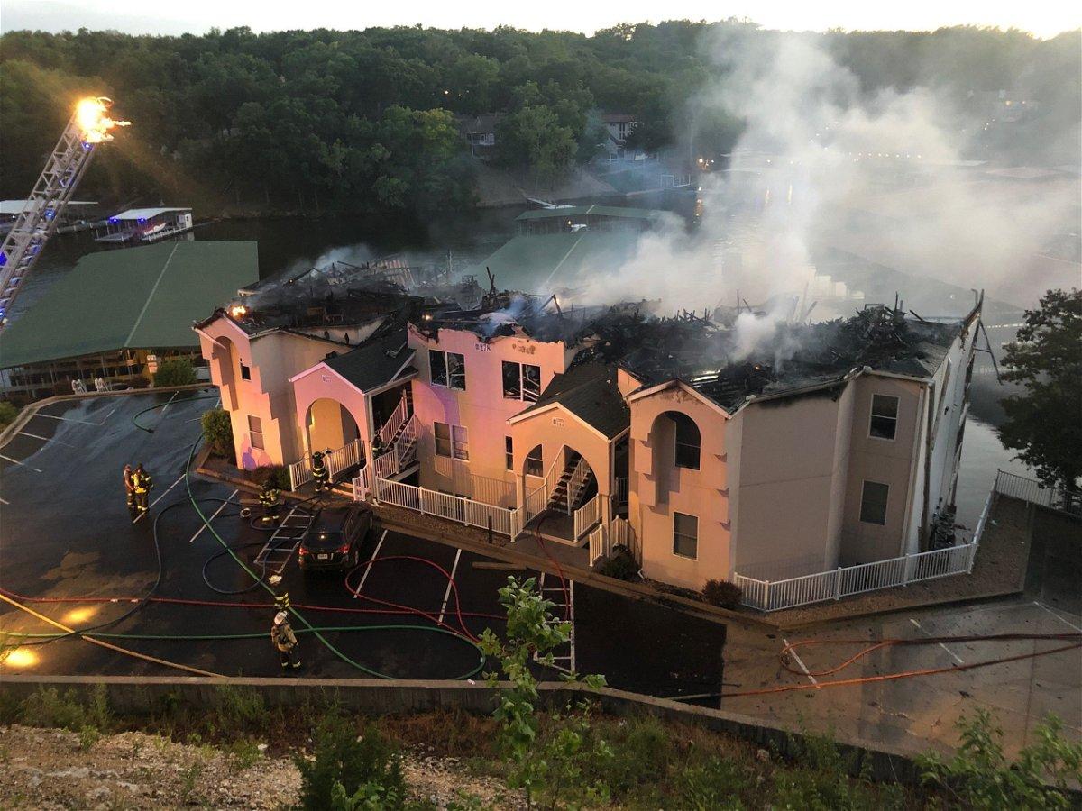 Fire at Lake of the Ozarks condos