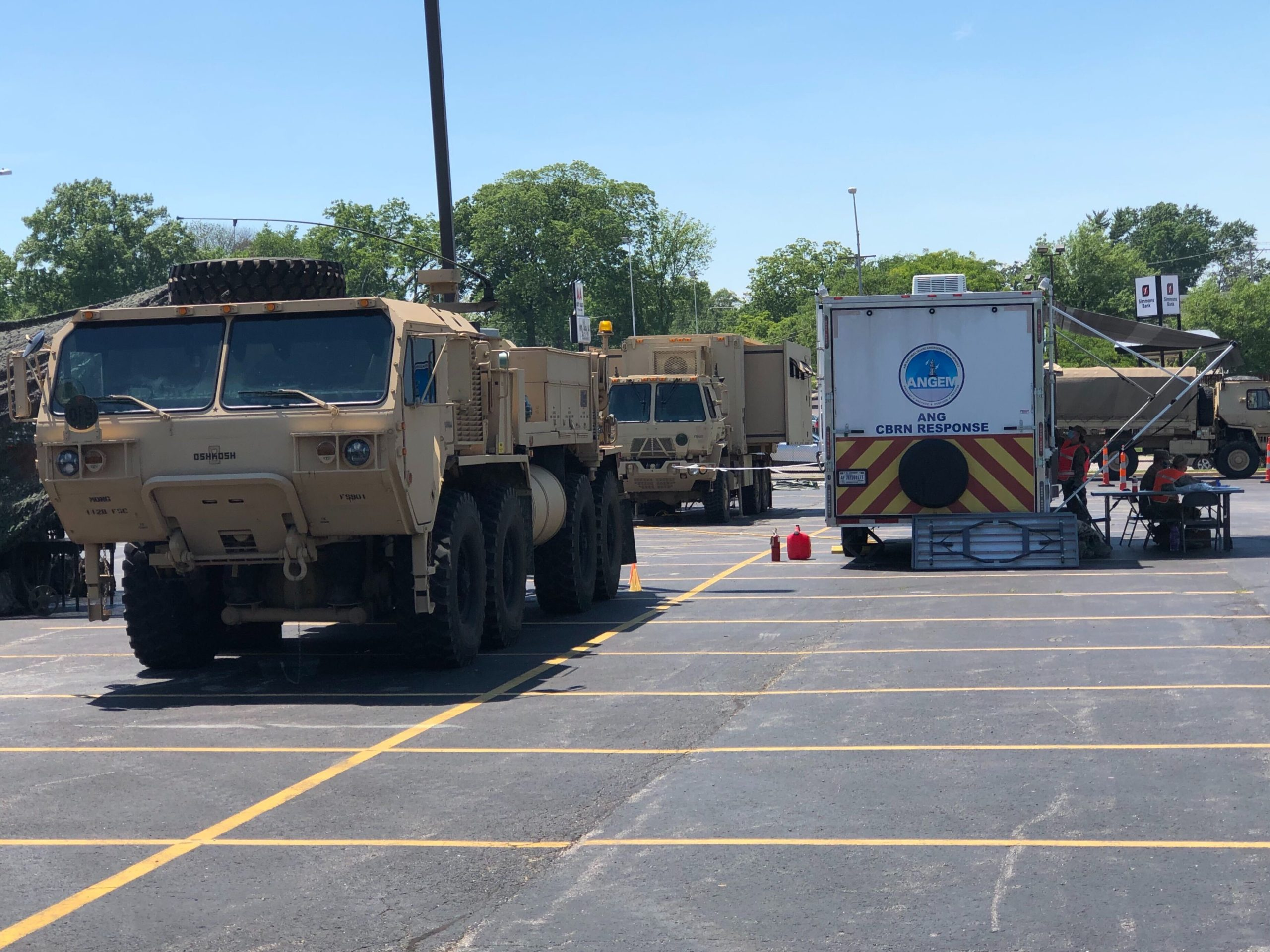 National Guard at test site