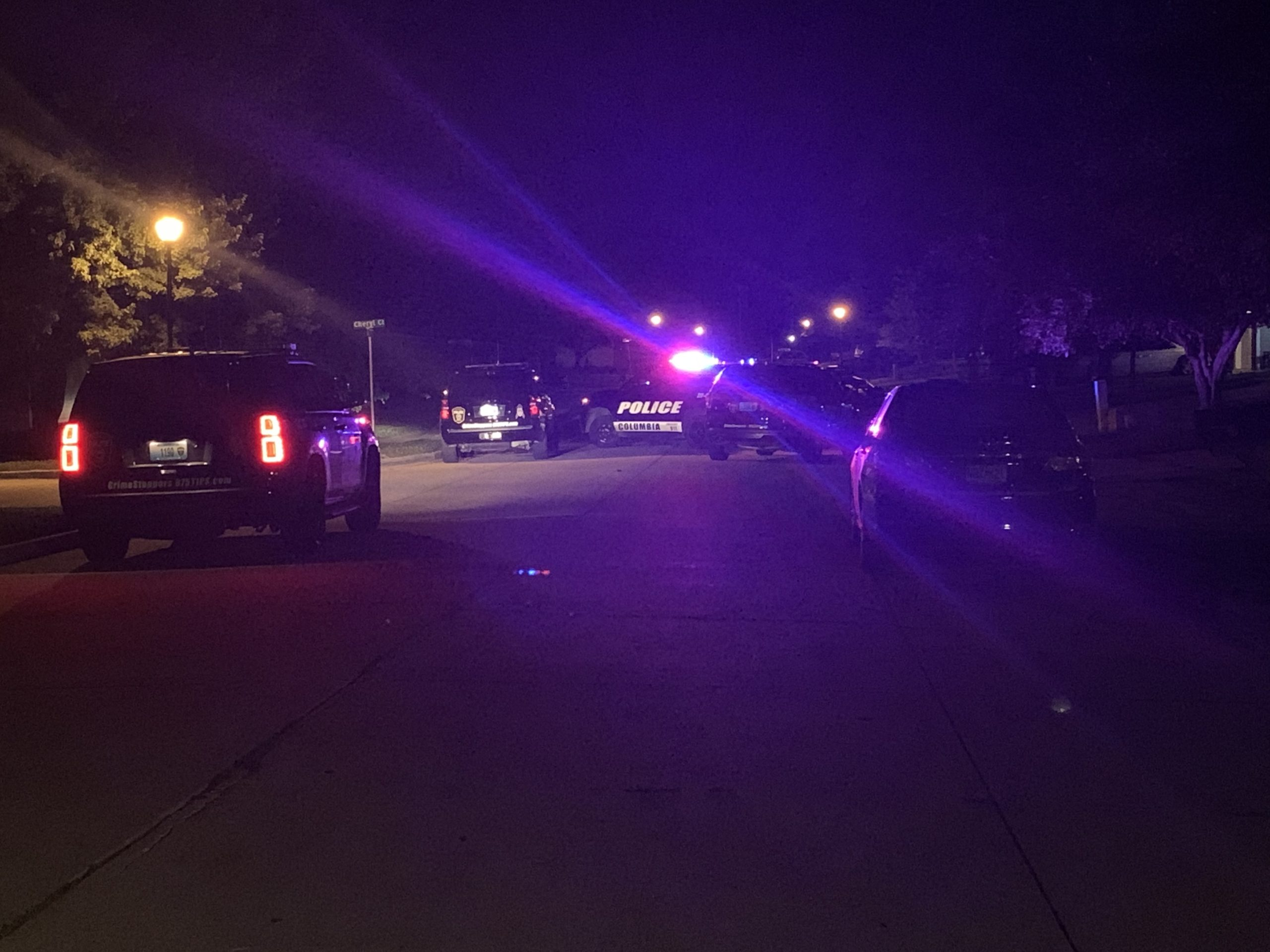 Police respond to the area of Scott Boulevard and Arlene Drive early Friday morning.