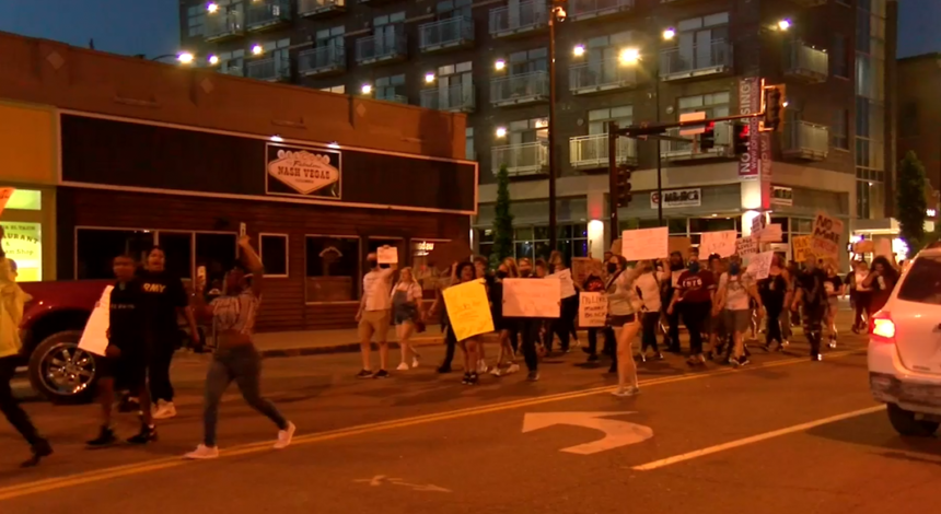 Protests in downtown Columbia