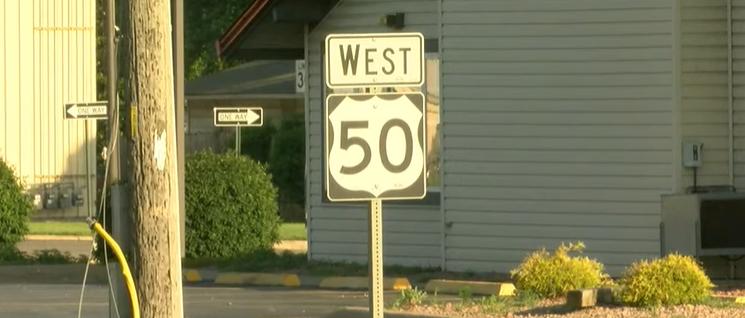 Highway 50 in Sedalia.