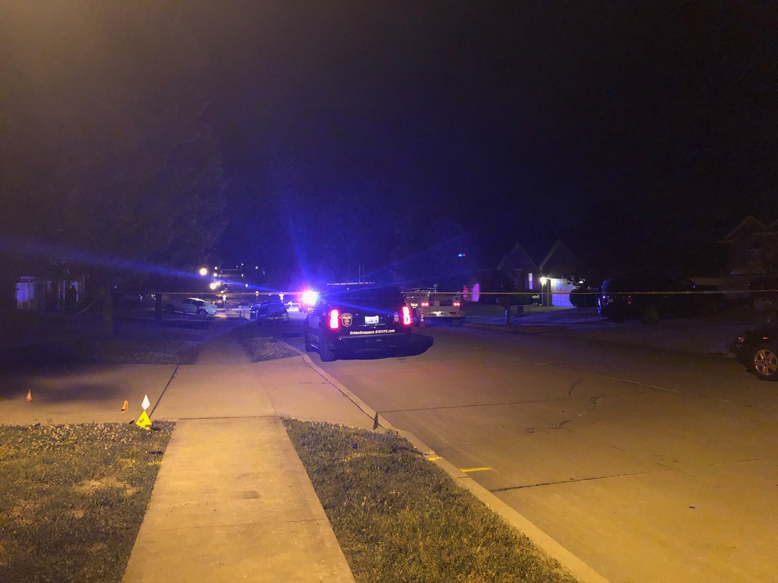 Police investigate shots fired on Kelsey Drive in Columbia.