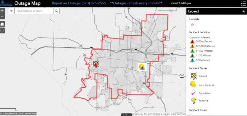 June 30 Columbia outage