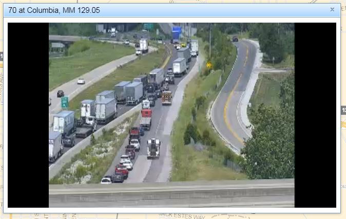 Interstate 70 traffic backup