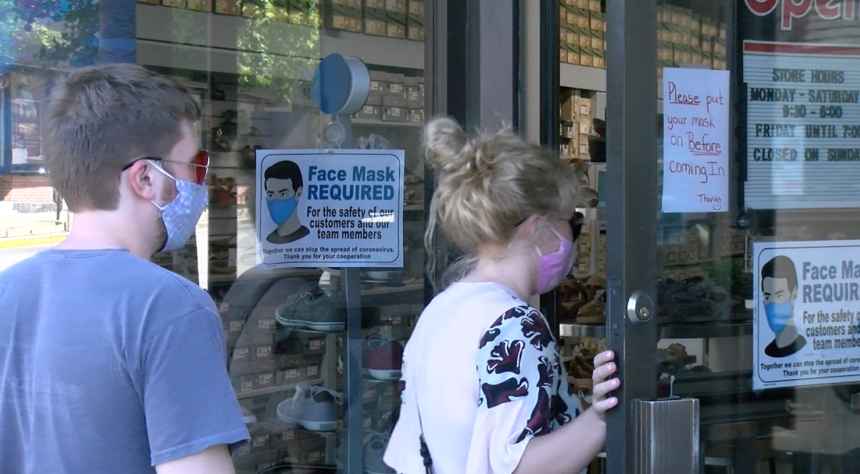Masks and businesses in Columbia