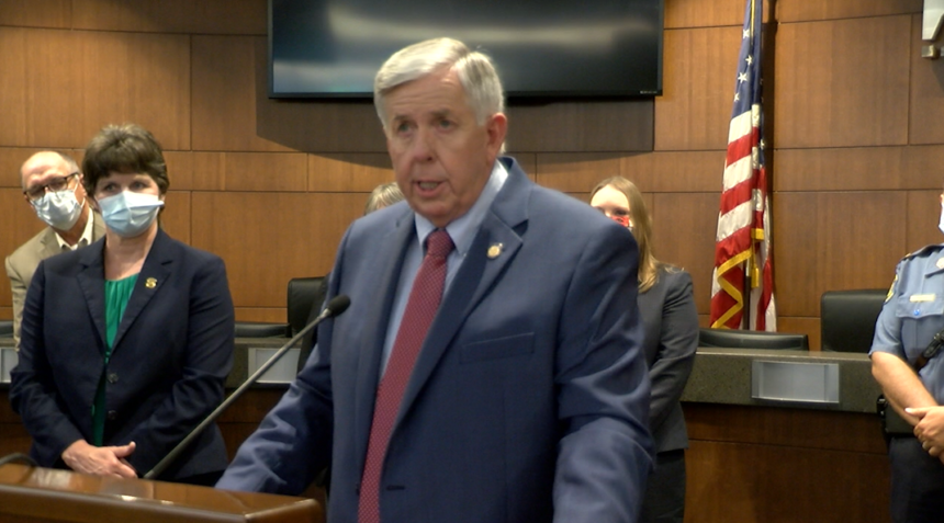 Governor Parson, Columbia City Hall