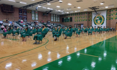 Socially distanced graduation at Rock Bridge