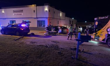 A vehicle crash left one person injured.