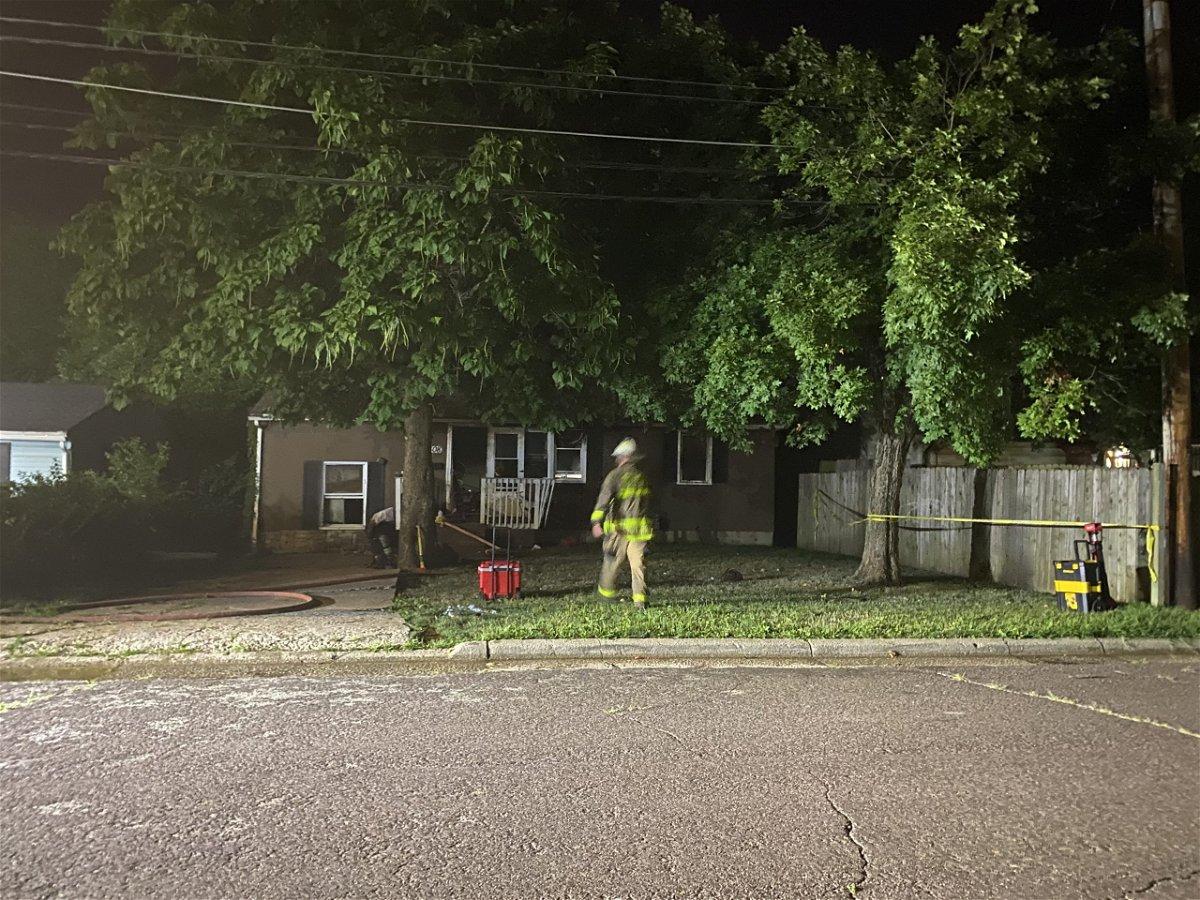 Columbia fire crews investigate a house fire on Fir Place.