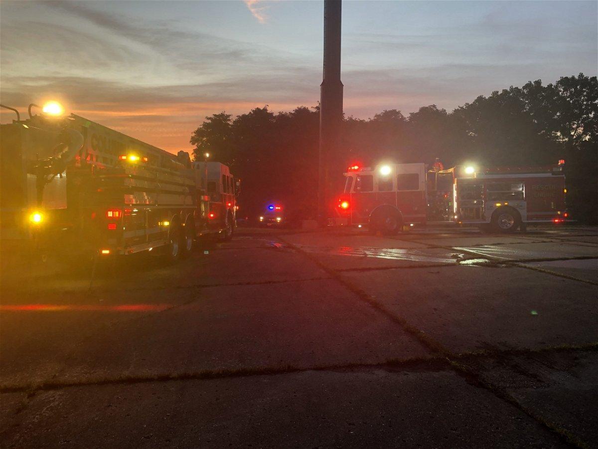 woods fire along i-70 near rangeline exit