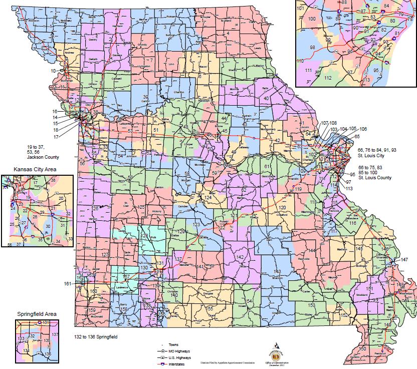 Us Representative Missouri District Map Missouri House of Representatives district map   ABC17NEWS