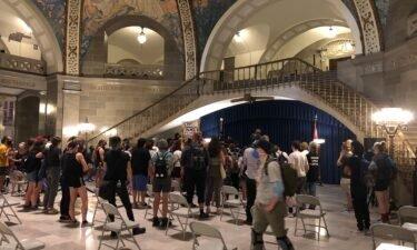 Protesters in Missouri Capitol