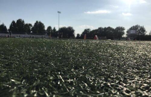 Football field at Rock Bridge High School