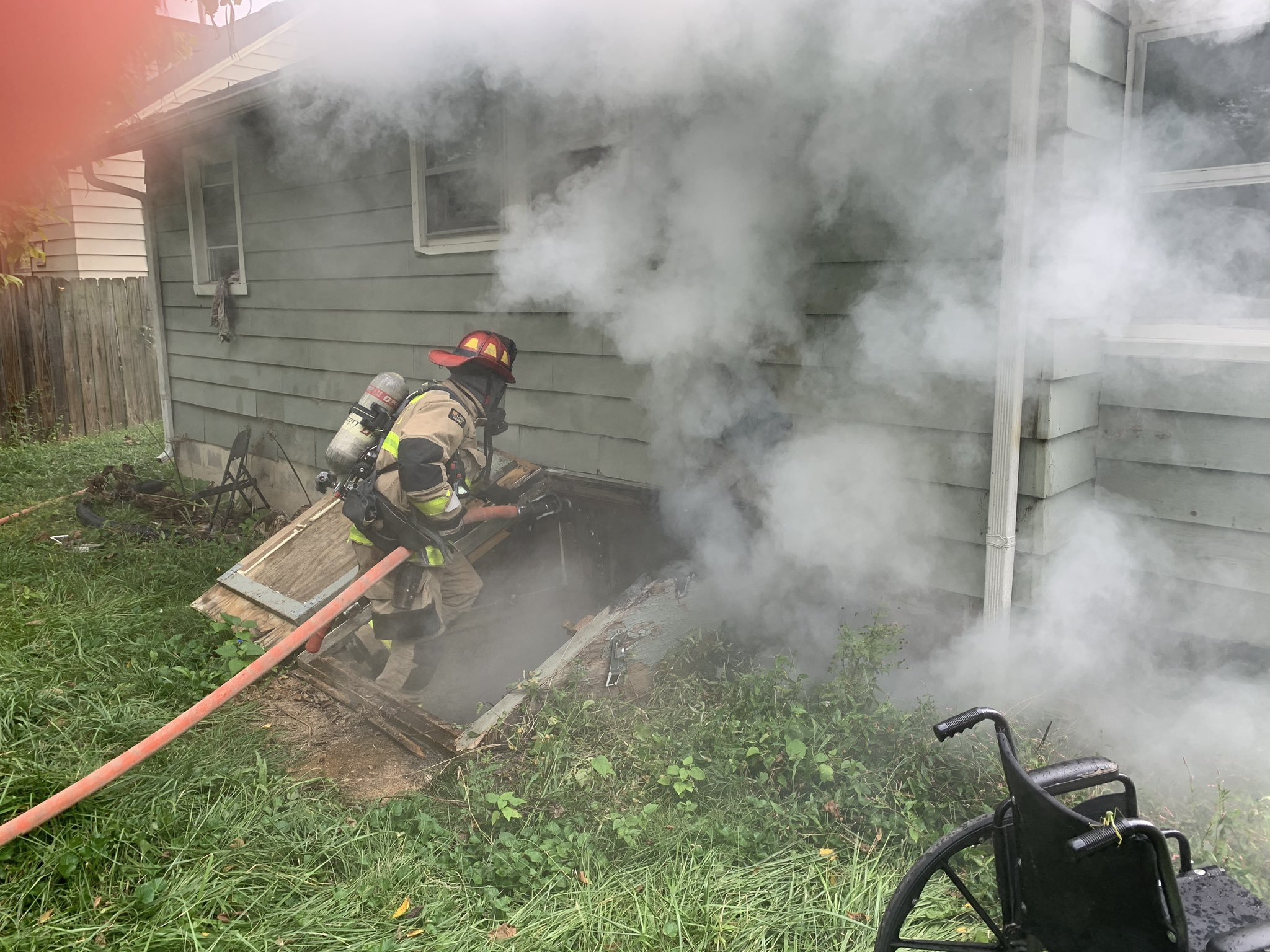 Columbia firefighters respond to a residential structure fire on Pannell Street Monday, Sept. 7.